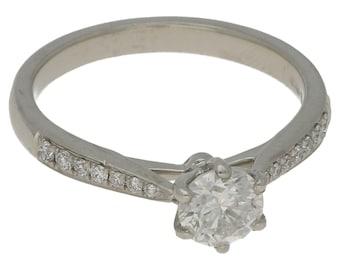 0.5ct Single stone diamond engagement ring