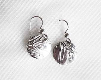 Sterling prairie grass earrings, botanical jewelry, midwest accessory, great plains gift