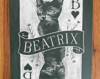 Chalk portraits of Beatrix!