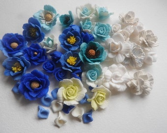 set of assorted flowers