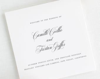 Camille Wedding Programs - Deposit