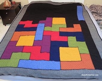 Knitting Pattern - Tetris Afghan