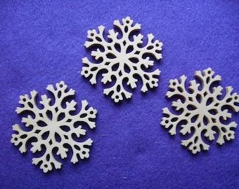 30 snowflakes, wood, 8 cm (14-0001B30)