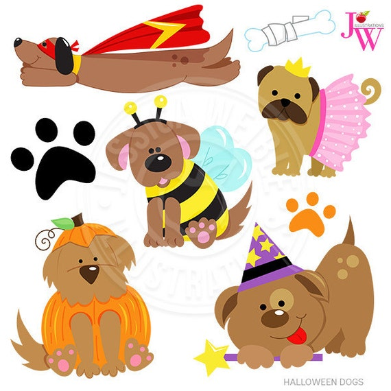 halloween dogs cute digital clipart halloween puppy clip art rh etsystudio com Halloween Background Clip Art Halloween Birthday Clip Art