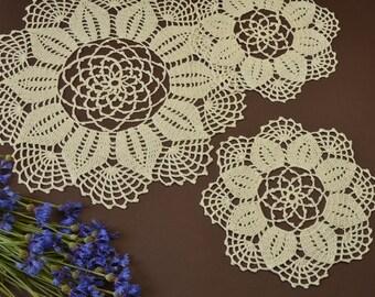 Crochet Doilies (three)