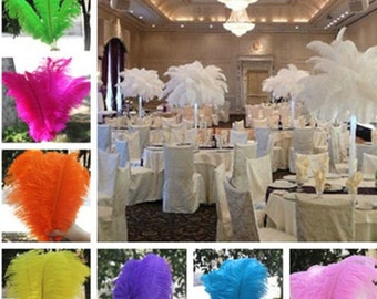 "100 pcs 8""-16"" Wholesale beautiful ostrich feathers for Centerpieces Wedding/centrepieces"