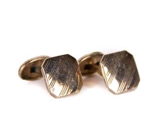 Vintage Mens Cufflinks / Mens Cufflink / Gold Retro Cufflinks / Mens Deco Gold Cufflinks / Mens Gift / Gold Cufflinks / Unique Cufflinks