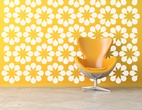 Flower Wall Decals Daisy Wall Decal Floral Wall Decals