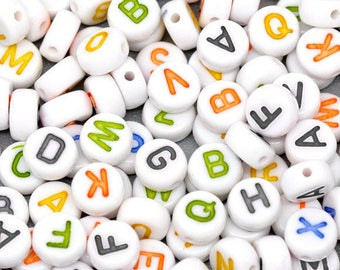 "Set of 26 letter ""A - Z"" acrylic beads"