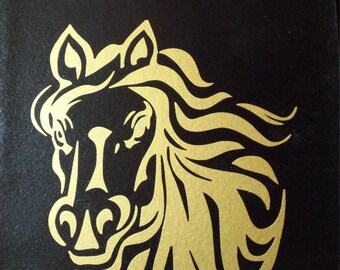 Horse Head Vinyl Decal