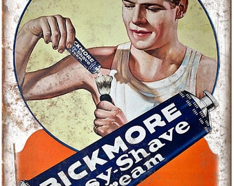 "Blackmore Vintage Shaving Cream Ad 10"" X 7"" Reproduction Metal Sign ZF18"