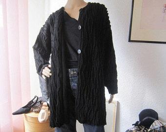 Vintage knit cardigan Knit jacket with structure oversize