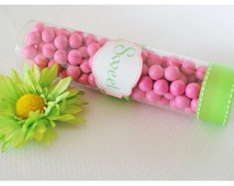 1 Dozen Candy Favor Plastic Containers & Candy