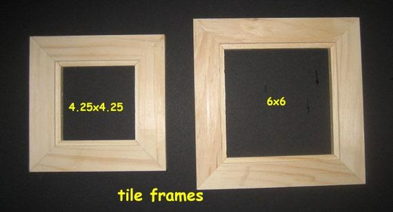 Tile frames (3) - front mount - unfinished - 4.25 x 4.25 or 6x6 ...