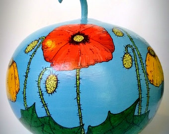 Poppy - Hand Painted Gourd