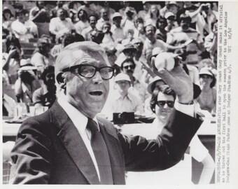 1979 Vintage Press photograph Cary Grant - Los Angeles - Dodger Stadium