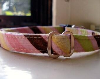 Asymmetrical Stripes - Eco Dog Collar