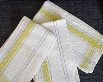 Kitchen Towels Set of 3 Linnen Cotton Swedish traditional design Great Quality
