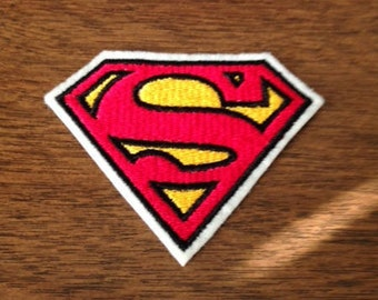 Superman Emblem - Iron-on Embroidered Comic Book Patch