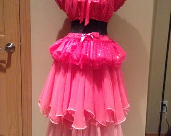Adult Pink Fairy Dress with Wings Complete Costume OOAK Size Medium 36C Pixie Sprite Fae Renaissance Fantasy Faire Festival