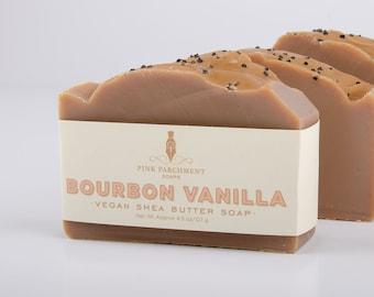 Bourbon Vanilla Soap - Handmade Soap - Cold Process Soap - Soap For Men - Husband Gift - Boyfriend Gift - Stocking Stuffer