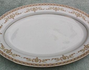 "Nikko Empire 461 14"" Oval Serving Platter"