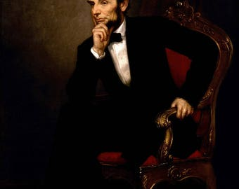 Poster, Many Sizes Available; President Abraham Lincoln Painting By George Peter Alexander Healy In 1869