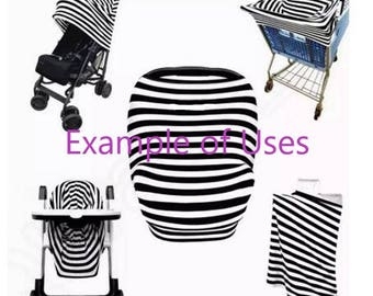 SALE****BABY Car Seat Canopy / Shopping Cart Cover / Nursing Cover - Multi Use Cover