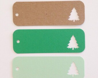 GREEN TREE Favor & Gift Tag (12ct)