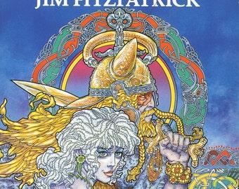 "Erinsaga - Celtic Irish Fantasy Art Book. Signed and 8x5"" Print Included."