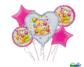 Shopkins – Bouquet Of Foil Balloons - All Occasion - Team Shopkins