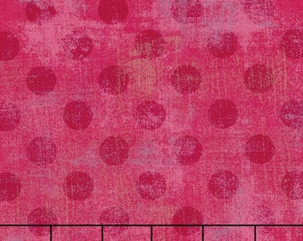 Fabric by the Yard- Grunge Spots in Raspberry