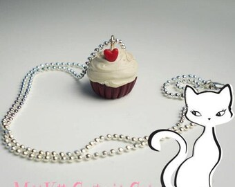 Red Velvet Scented Cupcake Necklace