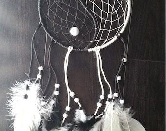 Black White Yin Yang Dreamcatcher CLEARANCE