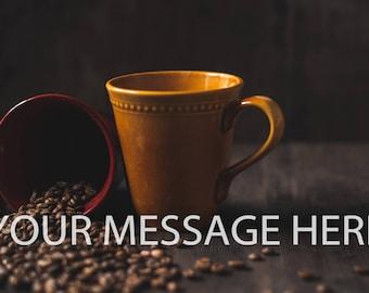 Coffee Beans Photography Digital Art Digital Download Printable Art Photography Wall Art Background Image Social Media Image Banner Image