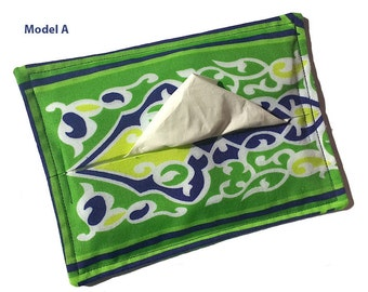Geomatric Arabesque Hand Printed Fabric Table Tissue Cozy