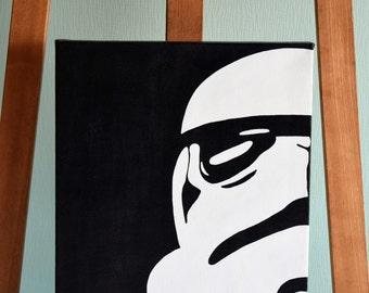 Stormtrooper Star Wars, Darth Vader, Disney acrylic color 30x40cm original on canvas