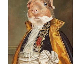 Guinea Pig Prints, Lincoln,  Guinea Pig in Costume, Guinea Pig Art