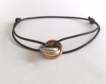 Bracelet 3 stainless steel rings.