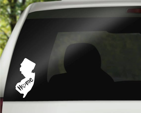 New jersey decal state decal new jersey car decal new jersey home decal state car decal laptop decal tumbler decal water bottle decal