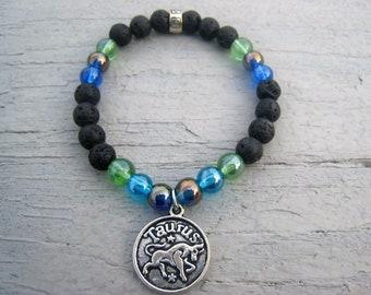 Taurus Zodiac Sign Essential oil diffuser bracelet