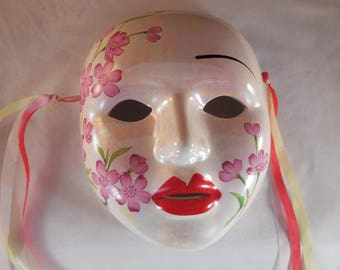 Ceramic mask wall decor.