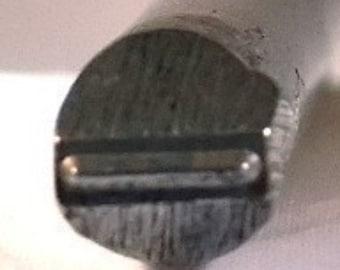 Jewelers Or Metal Worker Design Stamp Straight Line 186