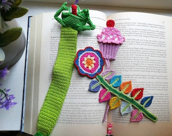 Cute and gaudy crochet bookmark