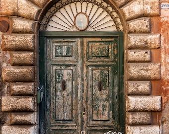 Rome photography, Italy door print, large wall art, Italian decor, rustic decor, urban decor, affordable gift,affordable art, home decor