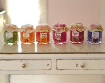 dollhouse miniature jar jams