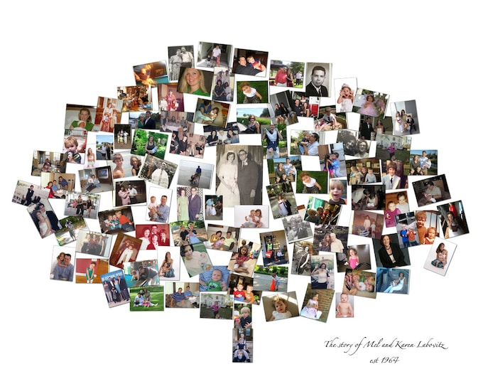 Family Tree Print Family Tree Art Family Tree Sign Wall Family Tree Family Tree Wall Art Photo Mosaic Collage Wall Art Photo Gift 16x20