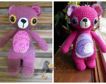 Treasure Teddy Bear Amigurumi -MADE to ORDER- Easter, shower gift, stuffy