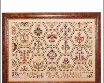 ROSEWOOD MANOR Parchment Tapestry counted cross stitch patterns at thecottageneedle.com