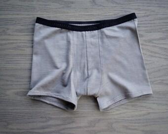 Merino wool men's briefs underwear, organic wool trunks, wool jersey knit men's briefs, thermal underwear, handmade underwear for man